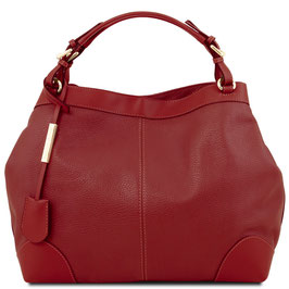 Tuscany Leather Ambrosia Leather Bag Red