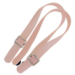 Long Flat O Bag Handles - Faux Leather - Natural