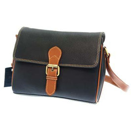 Rowallan Half Flap Shoulder Bag Navy-Brown