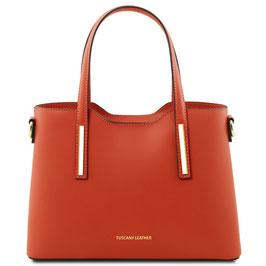Tuscany Leather Olimpia Leather Handbag Brandy