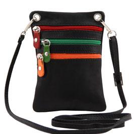 Tuscany Leather Mini Cross Bag Black