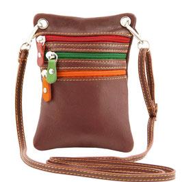 Tuscany Leather Mini Cross Bag Brown