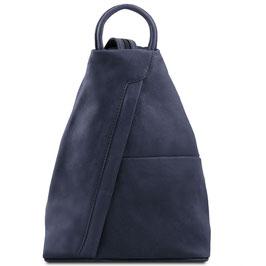 Tuscany Leather Shanghai Leather Backpack Navy