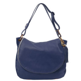 Tuscany Leather Tassel Detail Leather Bag Blue