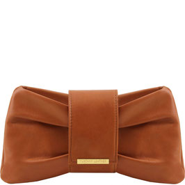 Tuscany Leather Priscilla Leather Clutch Bag Cognac