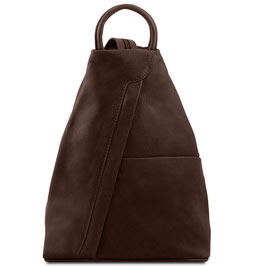 Tuscany Leather Shanghai Leather Backpack Dark Brown