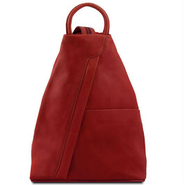 Tuscany Leather Shanghai Leather Backpack Red