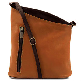 Tuscany Leather Mini Unisex Bag Cognac