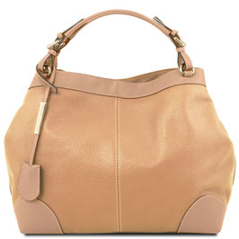 Tuscany Leather Ambrosia Leather Bag Champagne