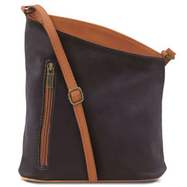Tuscany Leather Mini Unisex Bag Dark Blue/Purple