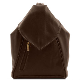 Tuscany Leather Delhi Backpack Dark Brown