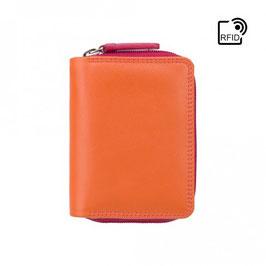 Visconti Hawaii Leather Purse Orange