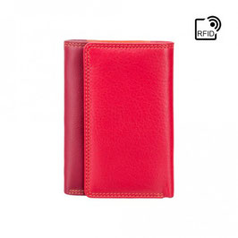 Visconti Biola Leather Purse Red