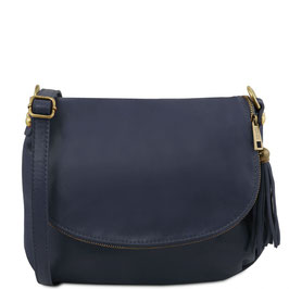 Tuscany Leather Soft Leather Cross Body Bag Navy