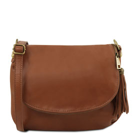 Tuscany Leather Soft Leather Cross Body Bag Cinnamon