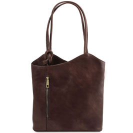 Tuscany Leather Patty Bag Dark Brown
