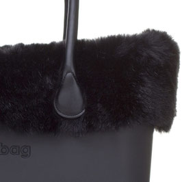 Faux Fur Trim in Black