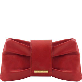 Tuscany Leather Priscilla Leather Clutch Bag Red