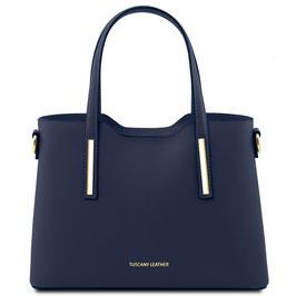 Tuscany Leather Olimpia Leather Handbag Navy