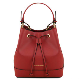 Tuscany Leather Minerva Leather Bag Red