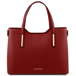 Tuscany Leather Olimpia Leather Bag Red