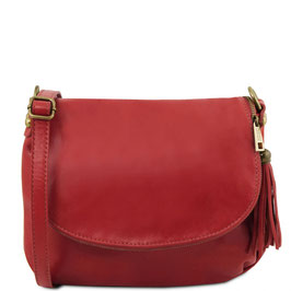 Tuscany Leather Soft Leather Cross Body Bag Red