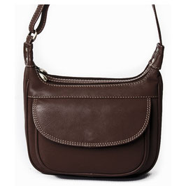 Nova Leather Cross-Body Bag - Brown