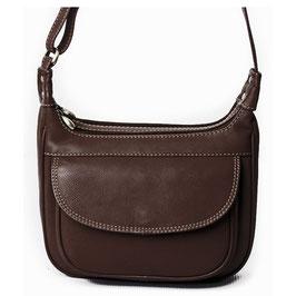 Nova Leather Cross-Body Bag - Brown