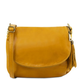 Tuscany Leather Soft Leather Cross Body Bag Yellow