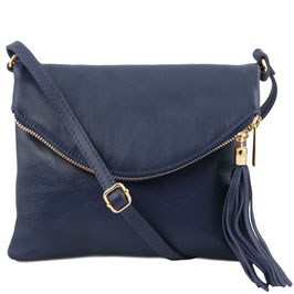 Tuscany Leather Young Soft Leather Bag Navy