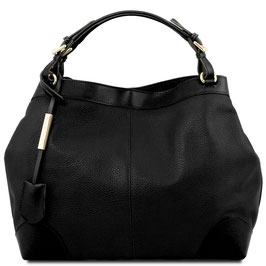 Tuscany Leather Ambrosia Leather Bag Black