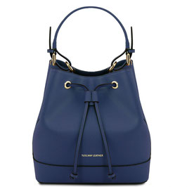 Tuscany Leather Minerva Leather Bag Navy