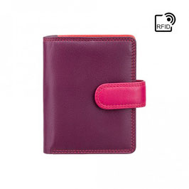 Visconti Bali Leather Purse Plum
