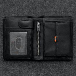 Tumble & Hide Tudor Leather Large Capacity Wallet Black