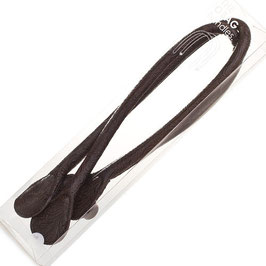 O Bag Handles - Faux Leather - Dark Brown