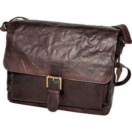 Rowallan Bronco Large Half Flap Mesenger Bag Brown