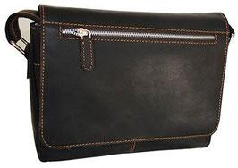 Rowallan Bavaria Large 3/4 Flap Messenger Bag Dark Brown