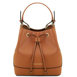 Tuscany Leather Minerva Leather Bag Brown