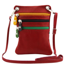 Tuscany Leather Mini Cross Bag Red