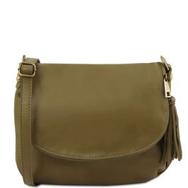 Tuscany Leather Soft Leather Cross Body Bag Olive