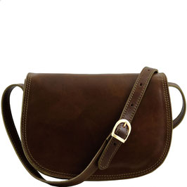 Tuscany Leather Isabella Leather Bag Dark Brown