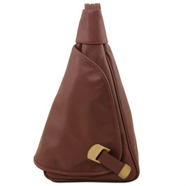 Tuscany Leather Hanoi Leather Backpack Brown