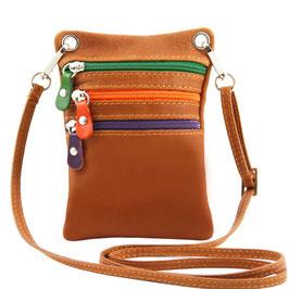 Tuscany Leather Mini Cross Bag Cognac