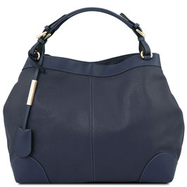 Tuscany Leather Ambrosia Leather Bag Navy