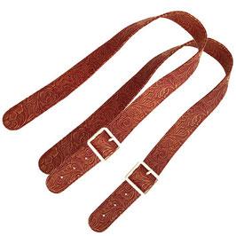 Long Flat O Bag Handles - Faux Leather - Cowboy Natural