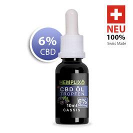 6% CBD Öl Hemplix Cassis