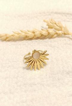 Bague demie-fleur nacrée