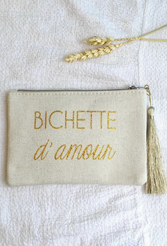 "Petite pochette ""Bichette d'amour"""