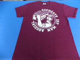 "Regel 17 T-Shirt Weinrot ""OLD SCHOOL"""