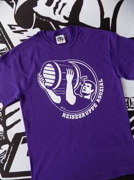 Reisegruppe Asozial T-Shirt Violett